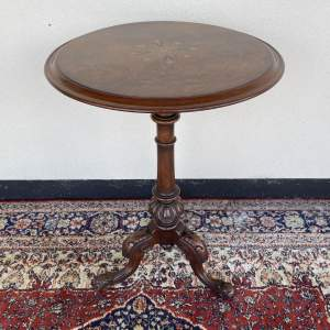 Inlaid Burr Walnut Occasional Table