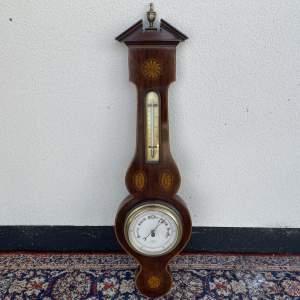Edwardian Inlaid Aneroid Barometer