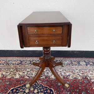 George III Mahogany Work or Lamp Table