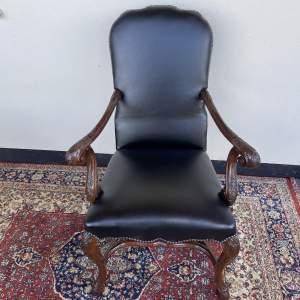 Black Leather Desk Chair