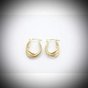 Vintage 9ct Gold Creole Earrings