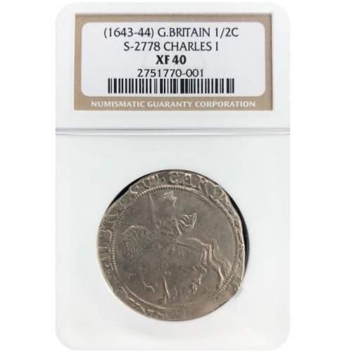 1643 – 44 Charles I Silver Half Crown image-1