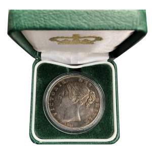 1845 Queen Victoria Silver crown VF