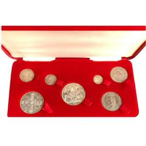 1887 Queen Victoria Jubilee Head 7 coin set