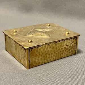 Art Nouveau Carl Deffner Brass Box