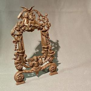 Victorian Cast Metal Cherub Frame
