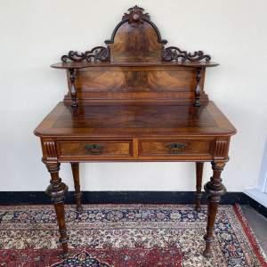 Burr Walnut Writing Table