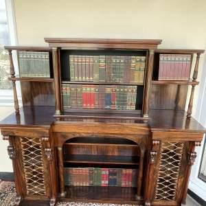 Regency Rosewood Bookcase