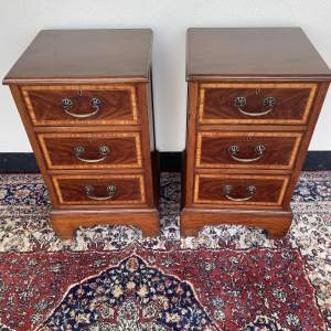 Pair of Inlaid Bedside Cabinets