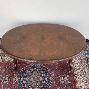 Burr Walnut Coffee Table