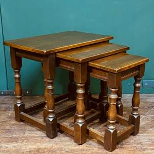 Ipswich Oak Nest of Tables