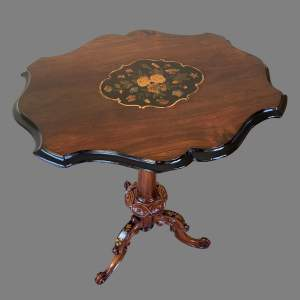 A Victorian Rosewood and Marquetry Wine Table