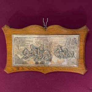 Edwardian Elkington and Co Silver Plate Wall Plaque