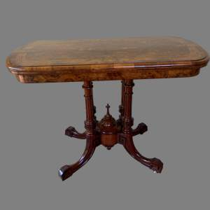 A Victorian Walnut and Marquetry Card Table