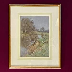 20th Century George Frederick Nicholls Watercolour Painting