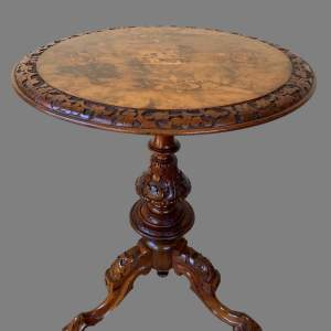 A Victorian and Marquetry Wine Table