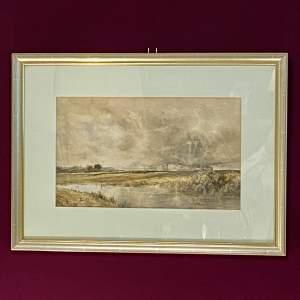 19th Century Thomas Bush Hardy Watercolour Landscape Painting