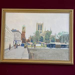 20th Century Oil on Canvas of Hull by Roger Davies