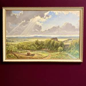 20th Century Oil on Board Painting by Nathan S Brown