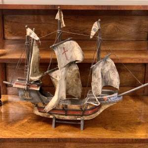Early 20th Century Model of a Crusade Ship