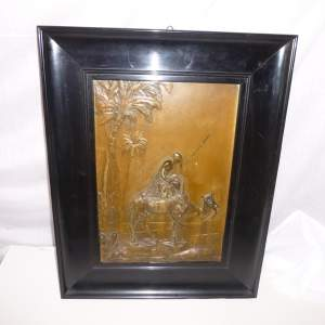 Art Nouveau Period WMF Metal Picture of Arab and Camel