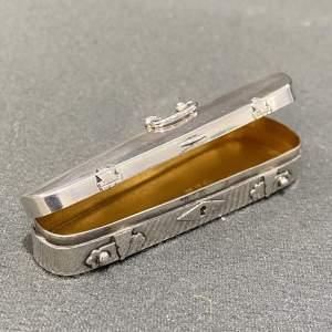 A Victorian Silver Violin Shaped Novelty Snuff Box