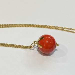 14ct Gold Chain And Agate Pendant