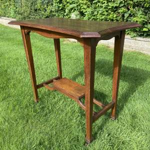 Oak Two Tier Occasional Table