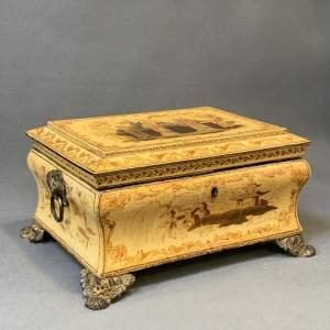 Rare Regency Period Chinoiserie Ladies Sewing Box