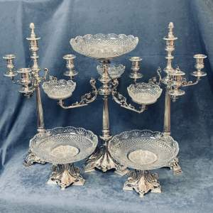 Impressive Late Victorian Silver Plated Table Centre Suite