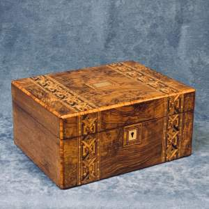 Victorian Walnut Parquetry Work Box
