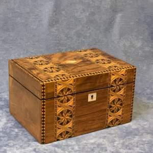 Victorian Walnut Work Box