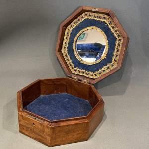 19th Century Mahogany Octagonal Jewellery Box