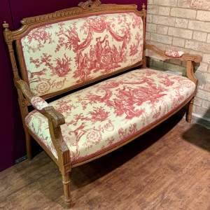 19th Century French Carved Walnut Sofa