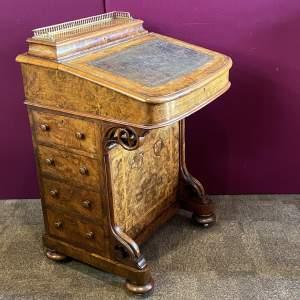Quality 19th Century Burr Walnut Davenport Desk