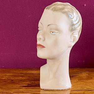 1930s Advertising Shop Display Head