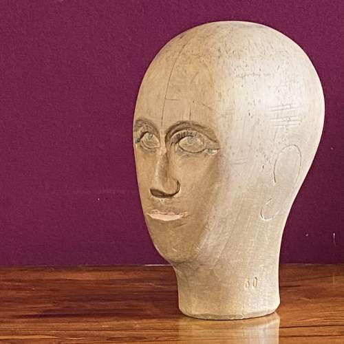 19th Century German Wooden Milliners Head image-1