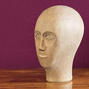 19th Century German Wooden Milliners Head
