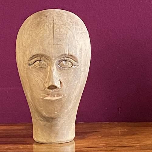 19th Century German Wooden Milliners Head image-2