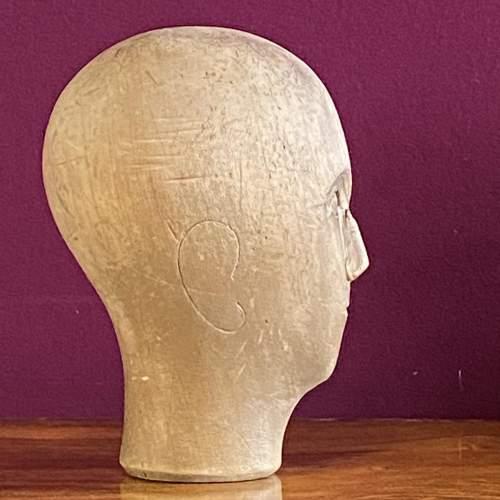 19th Century German Wooden Milliners Head image-3