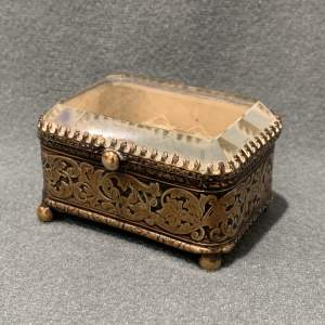 19th Century Ring Case With Bevelled Glass Lid