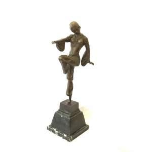 Bronze Figure Of An Exotic Dancer