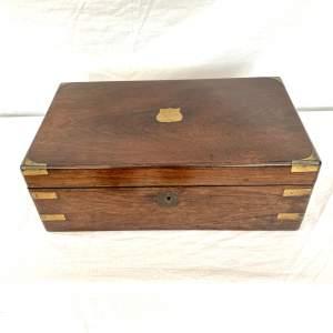Brass Bound Writing Box - Circa 1860