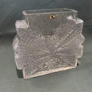 Riihimaen Lasi Stellaria Clear Glass Vase