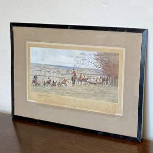 Early 20th Century Cecil Aldin Signed Hunting Print
