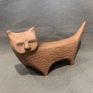 20th Century The Lotus Pottery Ceramic Cat