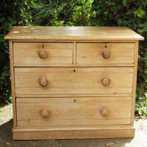 Antique 19th Century Victorian Pine Chest of Drawers