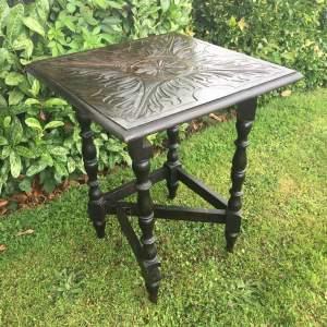 Victorian Circa 1870 Heavily Carved Drop Leaf Gateleg Table