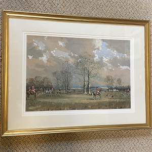 Watercolour Painting of a Hunting Scene by Graham Smith
