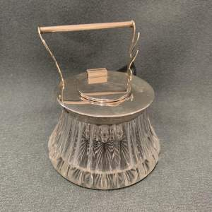19th Century Silver and Glass Ink Well